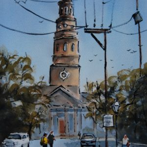 Charleston, SC VI by Henry Pulkowski, watercolor wash with pen & ink
